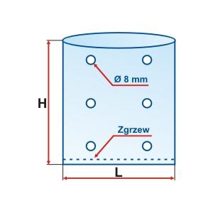 Worek foliowy z perforacją